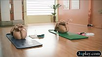 Free download video bokep Trainer and sexy babes does yoga while theyre all naked