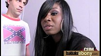 Ebony gets fucked in all holes by a group of white dudes 23