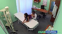 FakeHospital Slim gorgeous patient needs doctors cream for her beautifully tanne