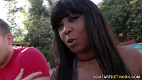 Busty Ebony Rachel Raxxx Gets Gangbanged