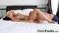 Curvy Alison Tyler takes some good dick in her bedroom
