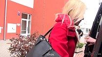 Takevan Blonde sell her virginity on the street to guys in van image
