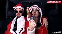 LETSDOEIT - German Teen Lullu Gun Blows And Rides Random Guy On Bus Christmas Sex - 69VClub.Com