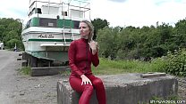 Walk on the wild side with catsuited Alina Long thumbnail