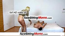 A boy is licking pussy of grandma Vera during face sitting Image