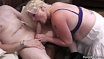 5105 Chubby blonde is doggy-fucked on the floor preview
