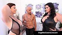 Cuban BBW Angelina Castro & King Noir Make Sara Jay Submit! thumbnail