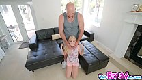 Jmac plow Aubrey Maries stretched twat on the couch