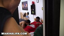 MIA KHALIFA - Black Football Player Gets His Di...
