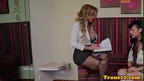 Screenshot Bigtitted trans  babe pounded tranny in duo ranny in duo