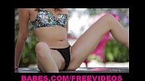 Naturally Beautiful Brunette Cassie Laine Strips And Rubs Herself