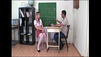 Submissive Schoolgirl Shows Her Boobs To The Teacher