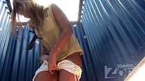Secret voyeur tanned beauty with huge tits thumbnail