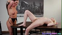 Busty dyke pussylicking squirting beauty صورة
