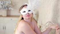 Masked Czech Beauty Showing Everything