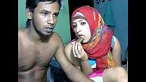 Sexy Desi couple webcam fucks thumbnail