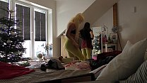 My Teenager Angel Sisters with a Younger Teen Friend Party Voyeur at home Vorschaubild