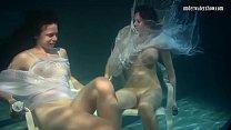 Polcharova and Siskina wet horny underwater les...