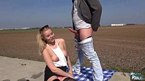 Blonde Big titty teen ass fucked outdoors without question image