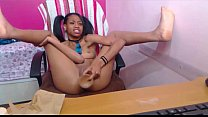 Black Girl Has Fun with her Dildo porn image
