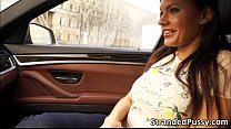 Hottie girl Kitana ass pounds by the driver ins...