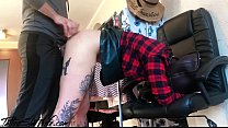 Tattooed Babe Stuck in a Bag and Rough Doggy Anal Husband صورة