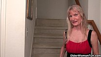 American milf April White teases her nyloned pussy thumbnail