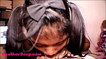 HD Thai Teen Heather Deep gives deepthroat thro...