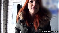 Redhead Czech Girl Screwed Up And Facialed For Money