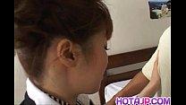 Aizawa Yu With Big Bum Has Shaved Slit Fucked