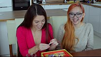 Cute, fun pornstars play operation boardgame thumbnail