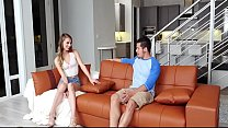 Guy fucks hot step-sister in living room - Watch 2part on Gozzillaporn.com