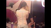 Smoking hot babes masturbating behind the scenes of a porn company