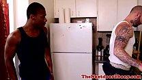 Ebony jock fucked with hard white meat