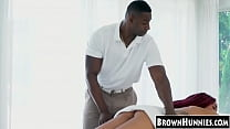 6028 Alt ebony Julie Kay hammered with masseurs BBC after blowjob preview