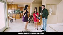 Baby Sitter Gets A Threesome On The Job: mybabysittersclub thumbnail