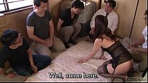 Subtitled Japanese AV star Tsubaki Katou gokkun party - 69VClub.Com