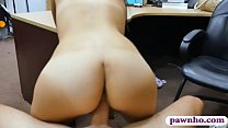 Pretty amateur babe sucks off and nailed by pawn dude thumbnail