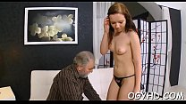 Mad old dude fucks young girl