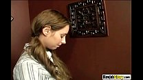 Glory Hole Blowjob Action With Nasty Brunette B...