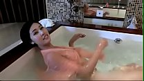 Busty chinese cam girl masturbates in bathtub  - watch live at www.foxycams.online