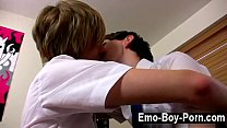 Gay porn Ethan Knight and Brent Daley are 2 nasty students enjoying