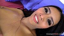 Hot Thai babe banged bareback on bed's Thumb