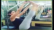 Deepika Padukone Exercising in Skimpy Leggings Hot Yoga Pants. video