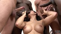 Milf gangbang double anal fucked and swallows t...