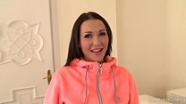 Sporty Vixen Patty Michova shows her Perfect tits in Porn casting thumbnail