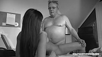 Senior Citizen Struggling With Horny Boss's Thumb