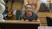 Teen cutie screwed by pervert pawn dude in his ...