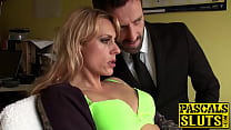 Sweet blonde MILF Brittany Bardot fingered hard...