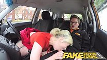 Fake Driving School Back seat pussy squirting and creampie for art student缩略图